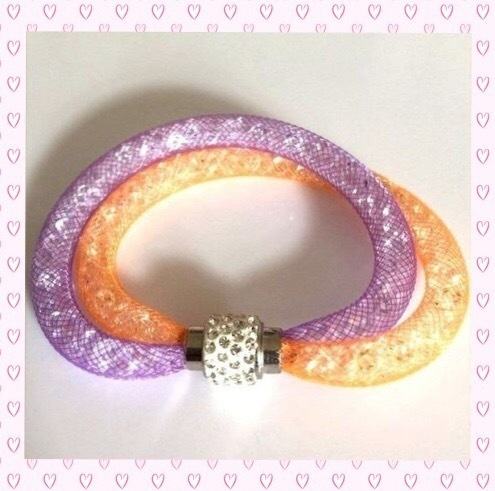 Armschmuck Stardust in orange/violette