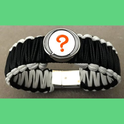 Makramee Fan-Armband mit Click Button